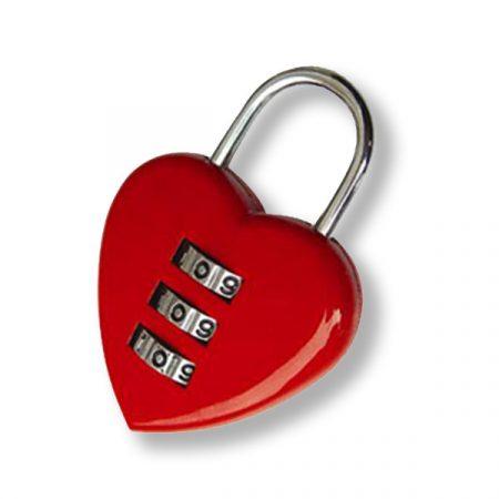 FTH szív alakú számzáras szerelem lakat