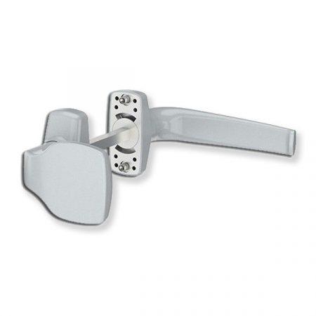 Merkury alu ajtókilincs gombos garnitúra silver