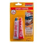 Soudal epoxy rapid ragasztó 20 g (2x10 g)