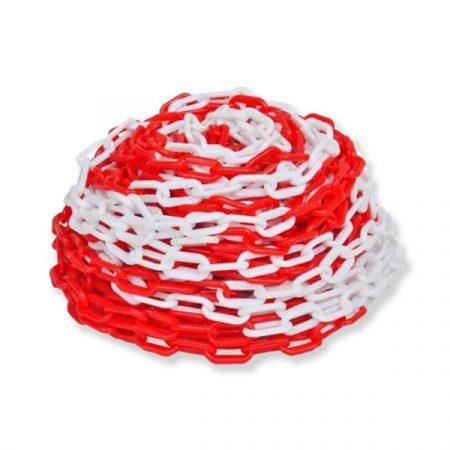 Műanyag lánc piros-fehér 6mm