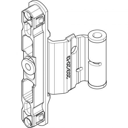 Bukópánt NT K 12/20-13 állítható (Roto NT vasalat)