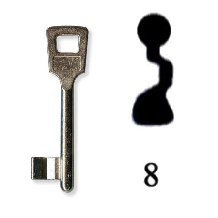 Készkulcs Titan 401-es zárhoz (8-as kulcs)