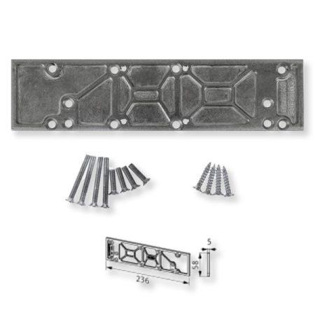 BKS ajtócsukó 430/440 alátét/szerelőlemez ezüst
