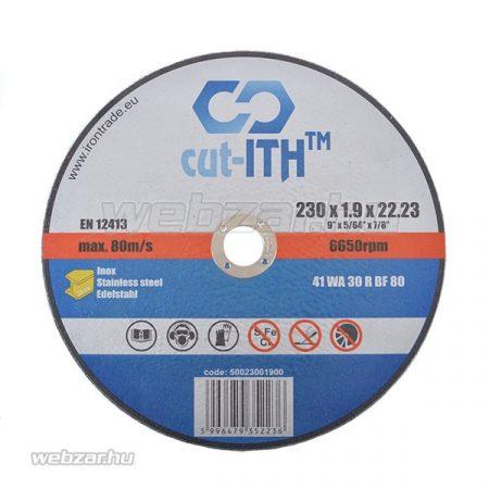 cut-ITH FLEX vágókorong WA30RBF inox 230x1,9x22
