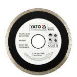 Yato YT-6016 Gyémánt vágótárcsa 180x25,4 mm folytonos (porcelán)