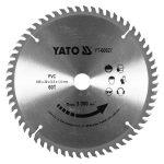 Yato YT-60627 fűrésztárcsa pvc-hez 185 x 20 mm 60t yato