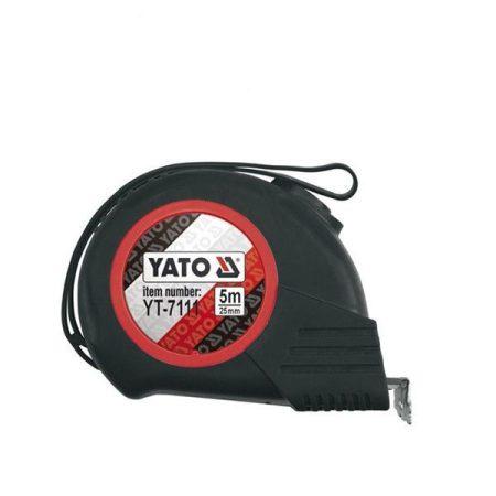 YATO mágneses mérőszalag gumis 5m/25mm (YT-7111)