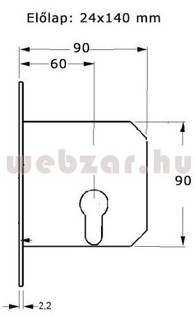 Kínai zár méretezése 24 mm-es előlappal