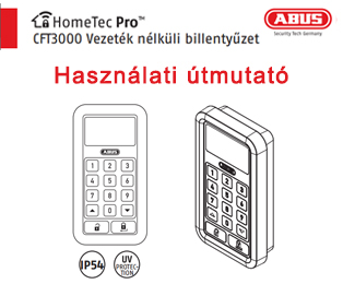 Abus HomeTec Pro elektromos ajtózár billentyűzete